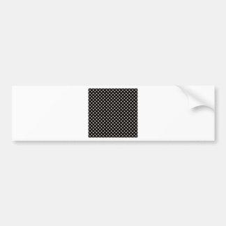 Polka Dots - Almond on Black Bumper Sticker