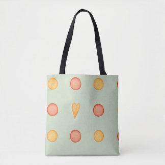 Polka Dots and a Heart Tote Bag