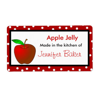 Polka Dots and Apple Food Labels