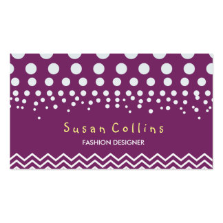 Polka Dots and Chevron Custom Fashion Elegant Pack Of Standard Business Cards