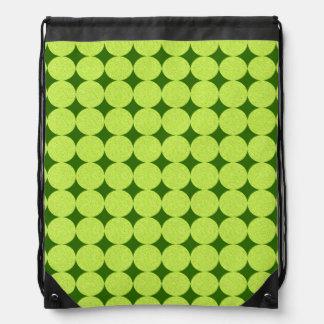 Polka Dots and Diamonds-Optical Illusion Drawstring Backpacks