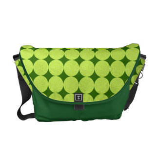 Polka Dots and Diamonds-Optical Illusion Courier Bags