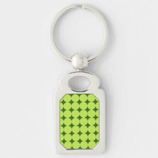 Polka Dots and Diamonds-Optical Illusion Keychain