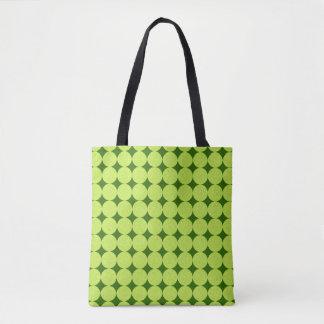 Polka Dots and Diamonds-Optical Illusion Tote Bag