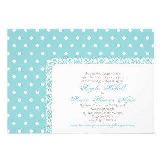 Polka Dots and Lace Wedding Invitation