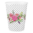 Polka Dots and Peonies Paper Cups
