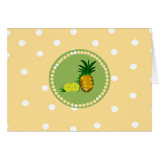 Polka Dots And Pineapples Card