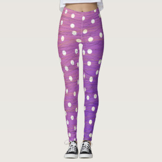 Polka Dots and Scribbles Leggings