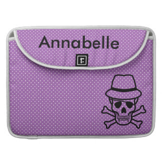Polka Dots and Skull Sleeve For MacBook Pro