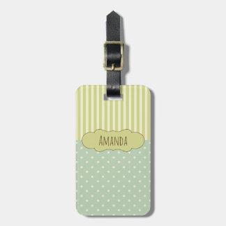 Polka Dots and Stripes Custom Luggage Tag