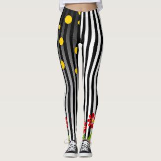 Polka Dots and Stripes Leggings