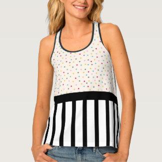 Polka Dots and Stripes Tank Top