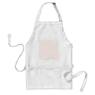 Polka Dots - Apricot on White Standard Apron