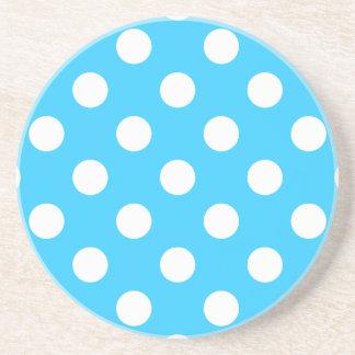 Polka Dots Aqua Coasters