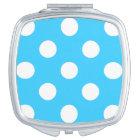 Polka Dots Aqua Compact Mirror