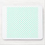 Polka Dots - Aquamarine on White Mouse Pad