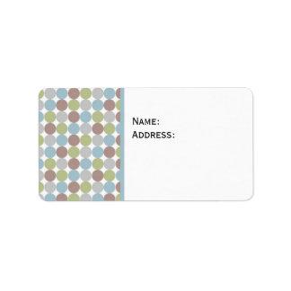 Polka Dots Background Label
