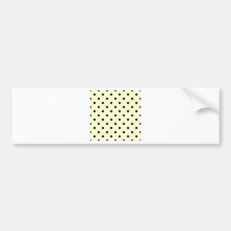 Polka Dots - Black on Cream Bumper Sticker