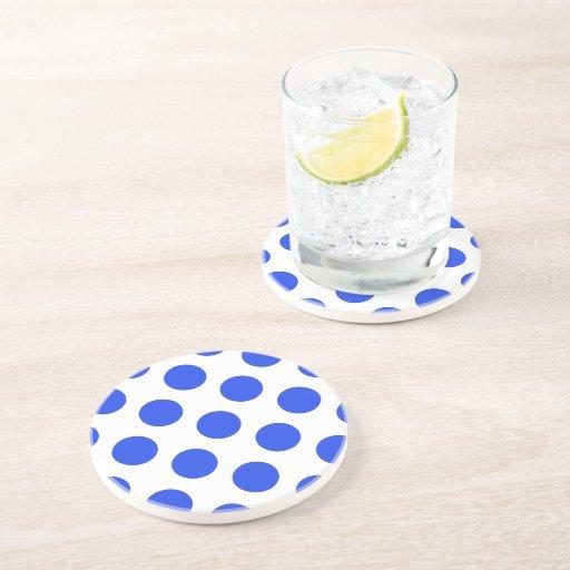 Polka Dots Blue Beverage Coaster