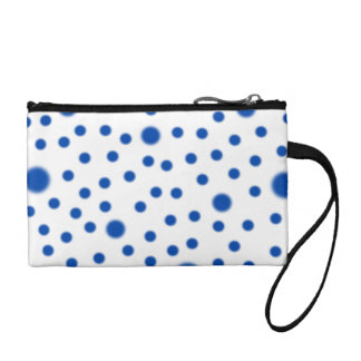 Polka Dots Blue Coin Purse