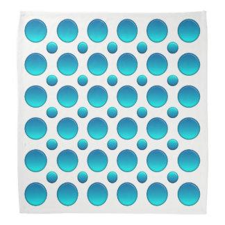 Polka dots blue element bandana