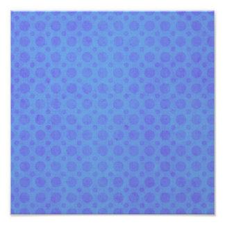 Polka Dots Blue Violet Watercolor Grunge Vintage Photograph