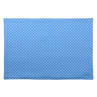 Polka dots blue & white retro spots stylish placemats