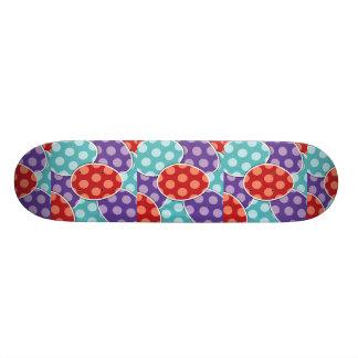 Polka Dots Cartoon Easter Eggs Skateboard Decks