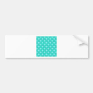 Polka Dots - Celeste on Turquoise Bumper Stickers