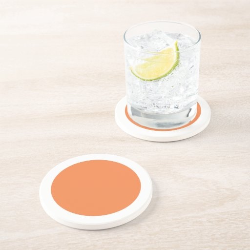 Polka Dots Celosia Orange Drink Coaster