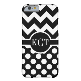Polka Dots Chevron Pattern Monogram Barely There iPhone 6 Case