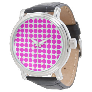 Polka Dots Circle Polkadot Pattern Pink Watch
