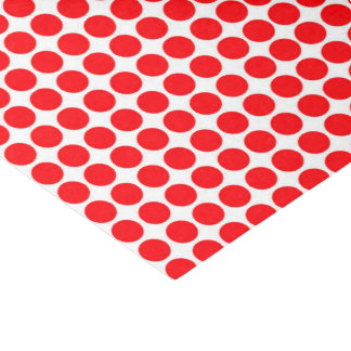 Polka Dots Circle Polkadot Pattern Print Red Tissue Paper