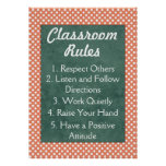 Polka Dots Classroom Rules Poster