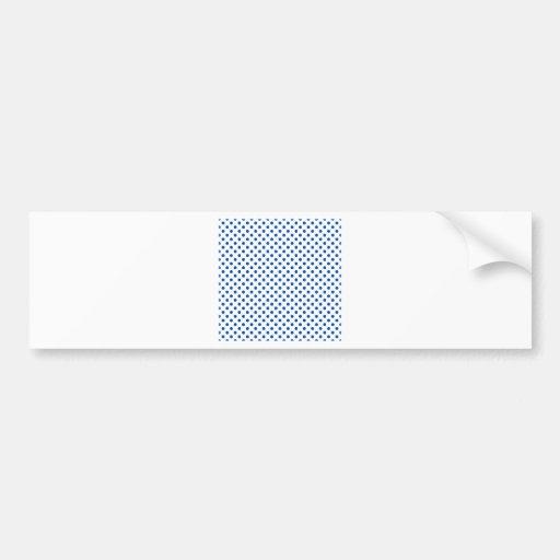 Polka Dots - Cobalt on White Bumper Sticker