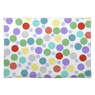 polka dots colored texture place mat