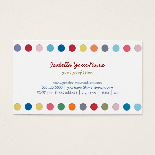 Polka Dots - Colour Love Business Card
