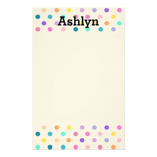Polka dots confetti fun stationary stationery