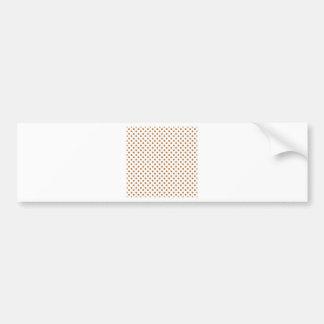 Polka Dots - Copper on White Bumper Sticker