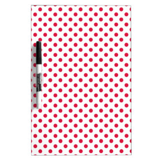 Polka Dots - Crimson on White Dry-Erase Boards