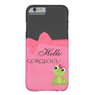Polka Dots, Cute Froggy-Motivational message Barely There iPhone 6 Case