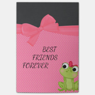 Polka Dots, Cute Froggy-Motivational message Post-it Notes