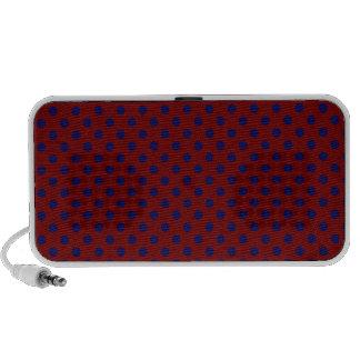 Polka Dots - Dark Blue on Dark Red Speaker