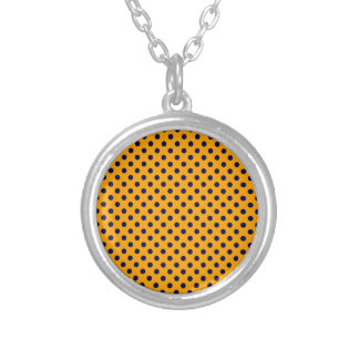 Polka Dots - Dark Blue on Orange Jewelry