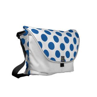 Polka Dots Dazzling Blue Commuter Bag