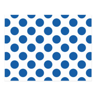 Polka Dots Dazzling Blue Postcard