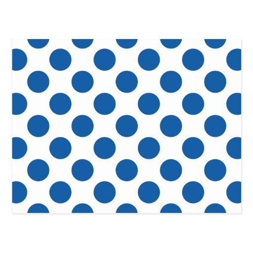 Polka Dots Dazzling Blue Post Cards