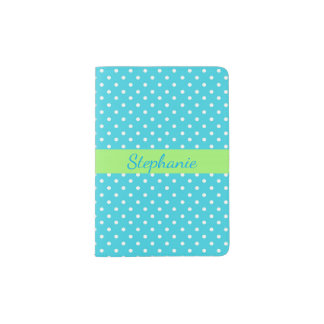 Polka Dots Design Passport Cover