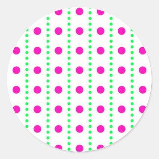 polka dots dots scored round sticker