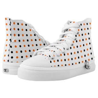 polka dots dotty halloween pattern high tops